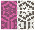 Set of two decorative patterns seamless geometrical in montage style Stock Photo