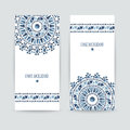 Set of two ethnic banners. Royalty Free Stock Photo