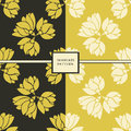 Set of two  floral seamless patterns. Royalty Free Stock Photo