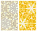 Set of two geometric patterns seamless geometrical in montage style Royalty Free Stock Image