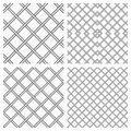 Set of two metal or steel grids as seamless background Stock Photo
