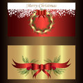 Set of two separated banners for christmas and new year Royalty Free Stock Photo