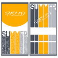 Set of two summer colorful banners vector Royalty Free Stock Photography
