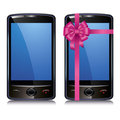 Set of two touch screen smart phone Stock Photo