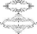 Set Of Two Vintage Ornate Curves Elements Royalty Free Stock Photo
