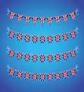 Set of uk bunting a Royalty Free Stock Photo