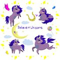 Set of unicorns and other items vector image