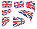 Set of United Kingdom flags Stock Photography