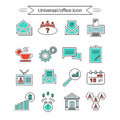 Set of universal office and organizational icons