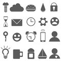 Set of Universal Outline Icons For Web and Mobile Royalty Free Stock Photo