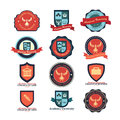 Set of university and college school and logo emblems