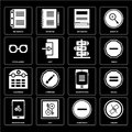Set of Unlink, Substract, Smartphone, Calendar, , Eyeglasses, No Royalty Free Stock Photo