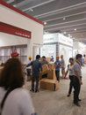 Set up booths in canton fair guangzhou china may Stock Image