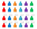 Set of user icons colored Royalty Free Stock Photos