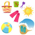 Set of vacation icons Royalty Free Stock Photo