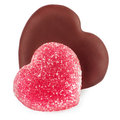 Set for valentine day of shape heart chocolate and jelly candy