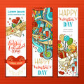Set of Valentine's banners. Royalty Free Stock Photo