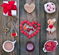 Set for Valentine's Day Royalty Free Stock Photo