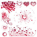 Set of Valentine's design elements Royalty Free Stock Photography