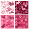 Set valentine`s seamless. Stock Image