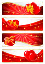 Set of valentines banners vector Royalty Free Stock Photos