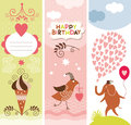 Set of Valentines Day  banners Stock Photo