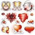 Set with Valentines design elements Royalty Free Stock Image