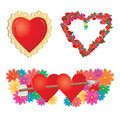 Set of valentines hearts, part 2 Royalty Free Stock Photo