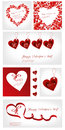 Set of Valentines illustration Stock Photos