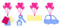 Set Valentines Tags Royalty Free Stock Photo