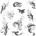 Set of variety floral designs