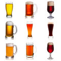 Set Of Various Beer Isolated O...