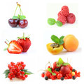 Set various berries Royalty Free Stock Photo