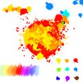 Set of various colorful ink splatter drops Royalty Free Stock Photo