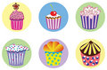 Set of various cupcakes Stock Photo