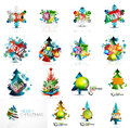 Set of various geometric abstract Christmas Royalty Free Stock Photo