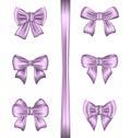 Set various gift bows isolated on white background illustration Royalty Free Stock Photos