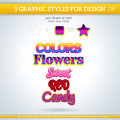 Set of various graphic styles for design and other Stock Photography