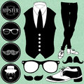 Set of various hipster elements style Royalty Free Stock Photos
