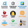 Set of various logo inspired shapes Royalty Free Stock Photo