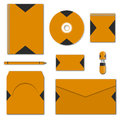 Set of various mock-ups of business stationery, vector illustration.