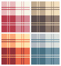 Set of various multicolor types of square pattern fabrics Stock Image