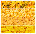 Set of various pasta Royalty Free Stock Photography