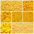 Set of various pasta Royalty Free Stock Image