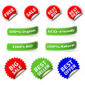 Set of various shape label and sticker colorful Royalty Free Stock Photography