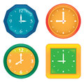 Set of various vector clocks Royalty Free Stock Photo