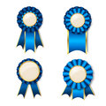 Set of vecor prize ribbons with place for text Stock Image