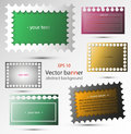Set of vector abstract banners for background, advertisement, internet, design Royalty Free Stock Photo