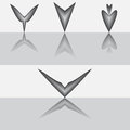 Set of vector arrows Royalty Free Stock Photo