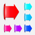 Set vector arrows in the form of paper stickers illustration for your design Royalty Free Stock Photography